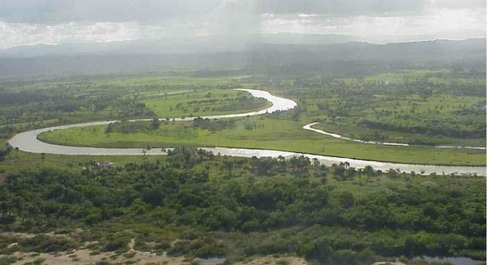 Río Yásica próximo a su desembocadura