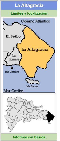localizacion de la provincia la altagracia