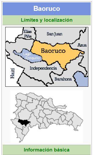 localizacion de la provincia bahoruco
