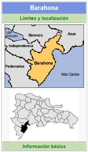 localizacion de la provincia barahona
