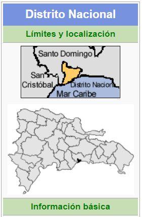 localizacion del distrito nacional