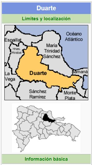 localizacion de la provincia duarte