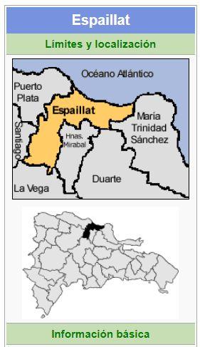 localizacion de la provincia espaillat
