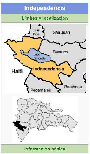 localizacion de la provincia independencia