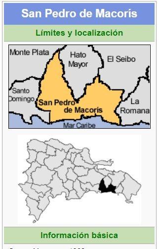 localizacion de la provincia san pedro de macoris