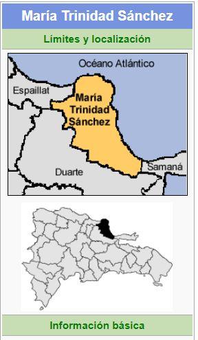 localizacion de la provincia maria trinidad sanchez