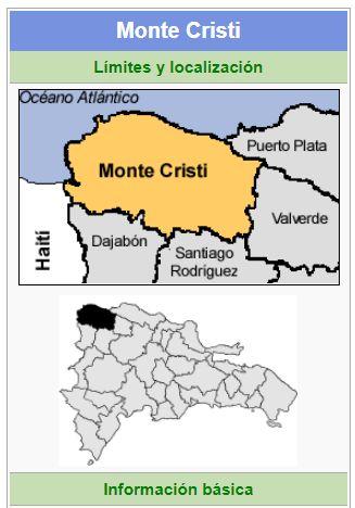 localizacion de la provincia montecristi