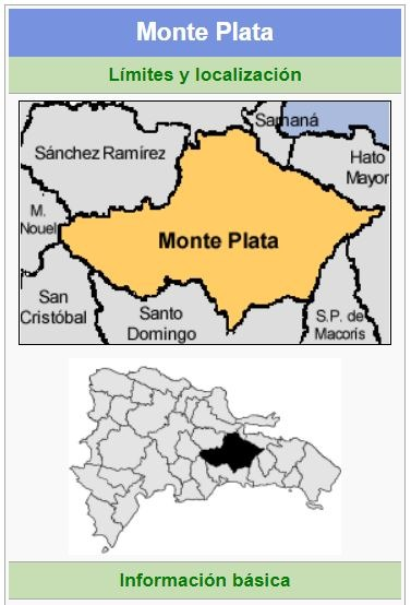 localizacion de la provincia monte plata