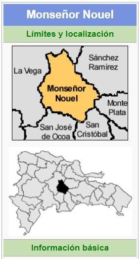 localizacion de la provincia monseñor nouel