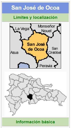 localizacion de la provincia ocoa