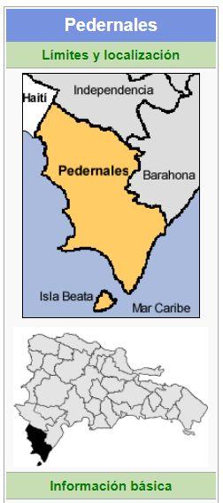 localizacion de la provincia pedernales