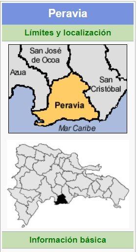 localizacion de la provincia peravia