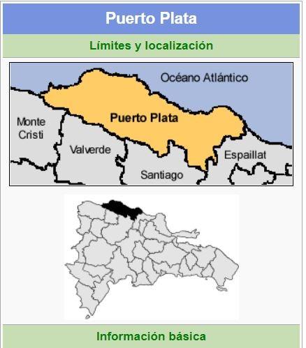 localizacion de la provincia puerto plata