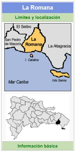 localizacion de la provincia la romana
