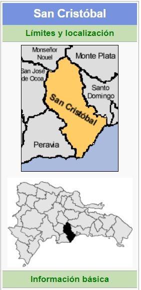localizacion de la provincia san cristobal