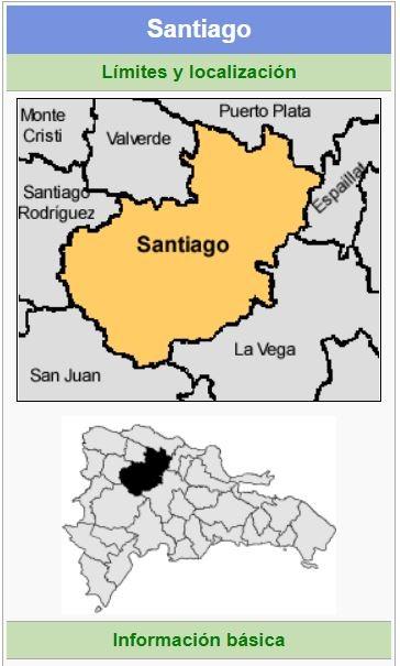 localizacion de la provincia santiago