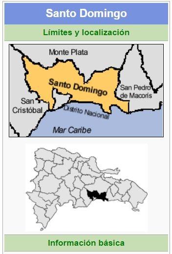 localizacion de la provincia santo domingo