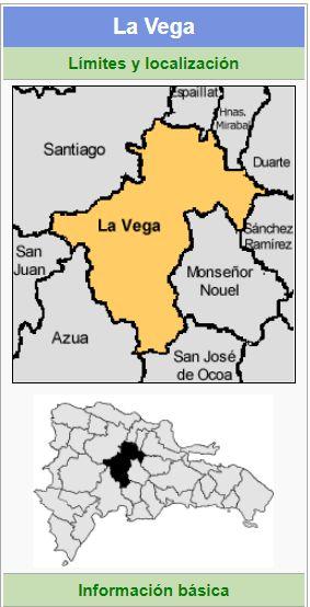 localizacion de la provincia la vega