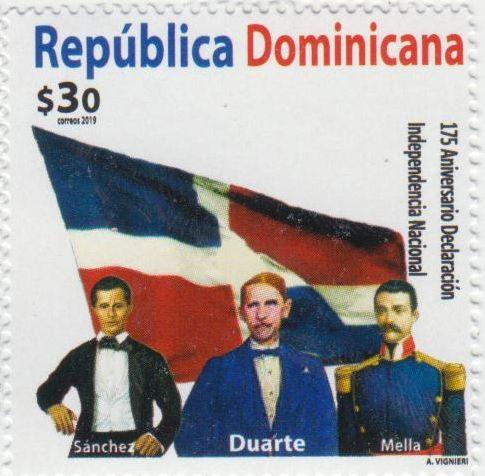 padres de la patria. Sello dominicano del 2020